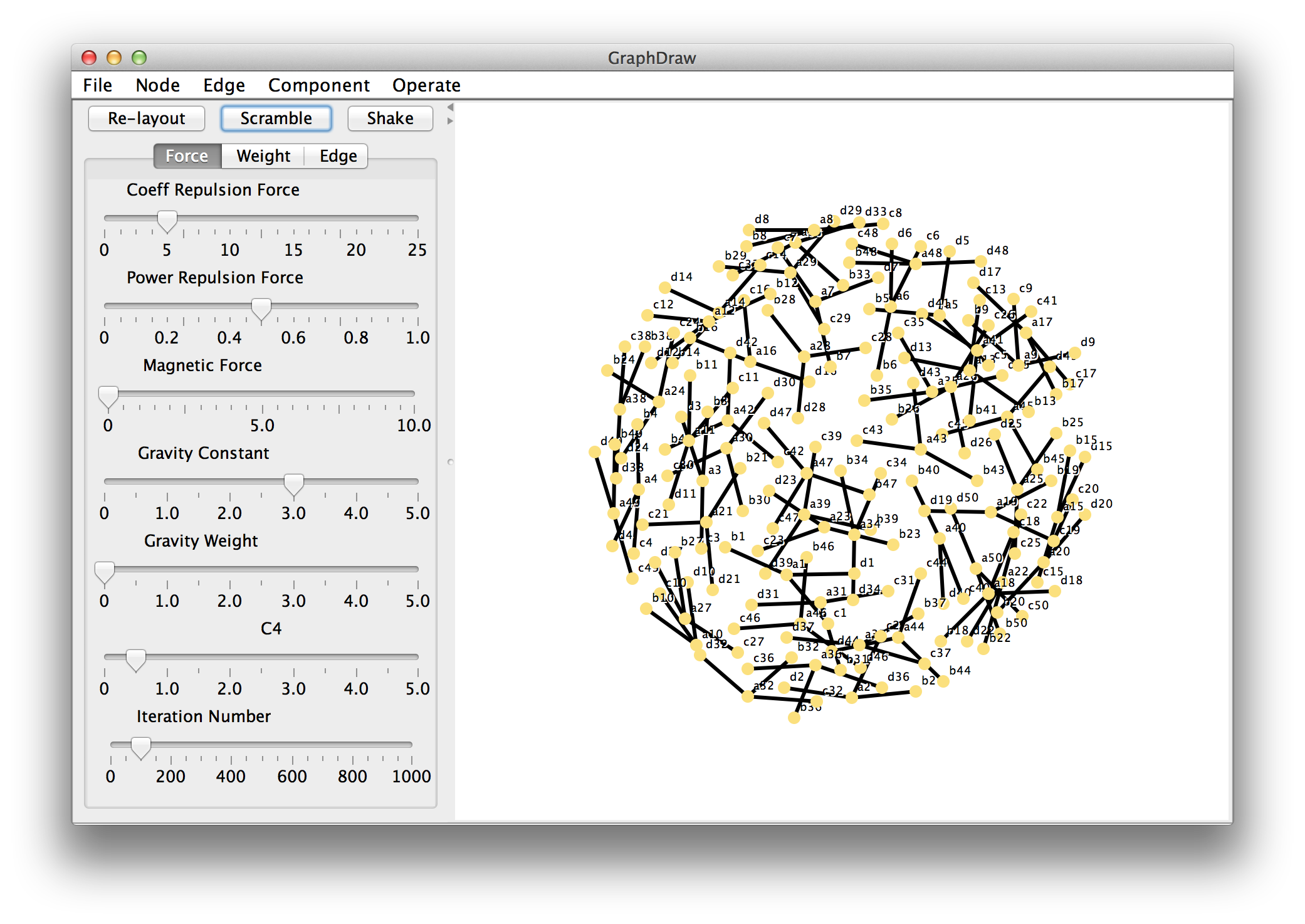 graphdraw graph drawing program